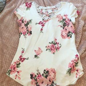 Floral girl shirt
